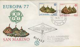 144118 BUSTA FDC FIRST DAY PRIMO GIORNO SAN MARINO EUROPA 77 - FDC