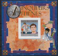 2004 Union Des Comores N°   Nf** MNH  1 Bloc Feuillet . JO Athénes - Summer 2004: Athens - Paralympic