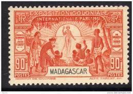 Madagascar N° 181  XX Exposition Coloniale De Paris : 90 C. Orange Sans Charnière TB - Nuovi