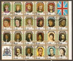 Umm Al Qiwain 1971 Kings And Queens Of England 1066 William 1st To Queen Elizabeth 11 Fine Used - Umm Al-Qiwain