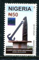 Nigeria 2010-12 2000 Years Of Arts & Wildlife - Square Hologram - 50n Lander Brothers MNH (SG 892) - Nigeria (1961-...)