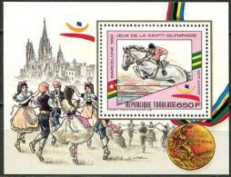 Togo, BF N° 279A** Y Et T, Bloc Feuillet, J.O. Barcelone 1992, équitation - Togo (1960-...)