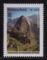Honduras, Stamp Machu Picchu, Homage Honduras To Peru, 2015 MNH - Honduras