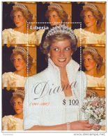 Liberia  Principessa Lady Diana Foglietto Nuovo MNH - Case Reali