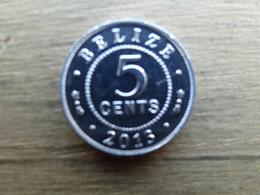 Belize  5  Cents  2013  Km !!! - Belize