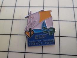 Pin1015c Pin's Pins / Rare Et De Belle Qualité  : EDF GDF / EDF PRODUCTION TRANSPORT FRANCE NORD - EDF GDF