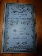 1887 Montesquieu  (Esprit Des Lois)  Par Edgar Zevort - Livres, BD, Revues