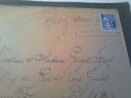 N° 8  FM  Type Paix 1938 Sur Lettre  TOURS  RP - Marcophilie (Lettres)