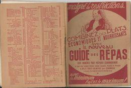 GUIDE DES REPAS LIVRET MALGRE LES RESTRICTION DU A LA GUERRE DE 64 PAGES CENT MANIERES TRUC RECETTES TRES BON ETAT - Francia