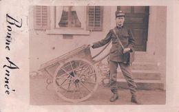 Le Facteur Et Sa Charrette (30.12.1916) Trace D'usure - Poste & Facteurs