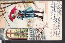 Postkarte Weihnachten ,  Geprägt  1906 - Weihnachten