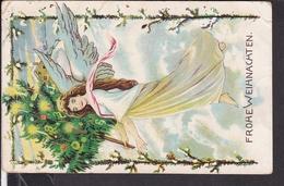 Postkarte Weihnachten , Engel  1909 - Weihnachten