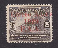 Nicaragua, Scott #C2, Mint Hinged, National Palace Overprinted, Issued 1929 - Nicaragua