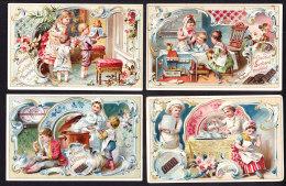 LOT DE 4 CHROMOS Chocolat SUCHARD   +/- 1894    Serie 38         Trade Cards - Suchard