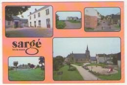 GF (72) 380, Sargé Lès Le Mans, LR, La Mairie, Le Complexe Sportif, Le Centre Commercial, Groupe Scolaire - France