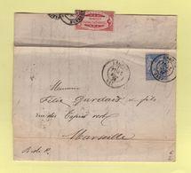 Angers - 47 - Maine Et Loire - 1876 - Etiquette Corderie Du Mail - 1877-1920: Période Semi Moderne