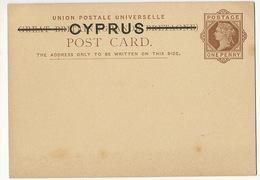 Cyprus Chypre  Postal Stationery Great Britain Cyprus - Cyprus