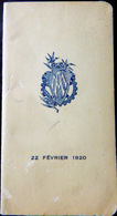 CARNET DE BAL ECOLE DES ARTS ET METIERS MATINEE 22 FEVRIER 1920 NOMBREUSES DANSES EXECUTEES - Programma's