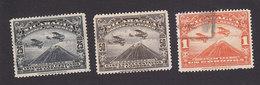 Nicaragua, Scott #C4-C6, Used, Airplane Over Mt Momotombo, Issued 1929 - Nicaragua
