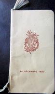 CARNET DE BAL ECOLE DES ARTS ET METIERS MATINEE 26 DECEMBRE 1920 NOMBREUSES DANSES EXECUTEES - Programma's