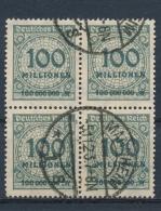 Duitse Rijk/German Empire/Empire Allemand/Deutsche Reich 1923 4 Block Mi: 322A  (Gebr/used/obl/o)(3402) - Duitsland
