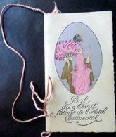 CARNET DE BAL ECOLE DES ARTS ET METIERS 9 AVRIL 1921 AVEC RUBAN  NOMBREUSES DANSES EXECUTEES ART DECO - Programma's