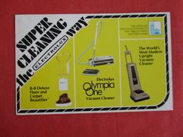 Olympia One Vacuum Cleaner     Advertising ---Ref  2883 - Advertising
