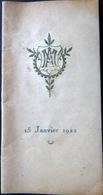 CARNET DE BAL ECOLE DES ARTS ET METIERS SOIREE  15 JANVIER 1922  NOMBREUSES DANSES EXECUTEES - Programma's