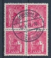 Duitsland/Germany/Allemagne/Deutschland Saar 1949 4 Block Mi: 264 (Gebr/used/obl/o)(3404) - 1947-56 Gealieerde Bezetting