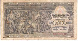 1597  SLOVENIJA   --EX-YU     100  DINARA  1953 - Slovenia