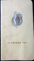 CARNET DE BAL ECOLE DES ARTS ET METIERS SOIREE  19 FEVRIER 1922  NOMBREUSES DANSES EXECUTEES - Programma's