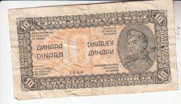 1599  SLOVENIJA   --EX-YU     10  DINARA  1944 - Slovenia