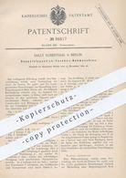 Original Patent - Sally Rosenthal , Berlin , 1885 , Doppelsteppstich - Taschen - Nähmaschine | Schneider , Nähen !! - Documents Historiques