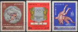 //// JO 1968 - IRAN - Yvert : 1216 / 1218** - Michel : 1348 / 1350** - Ete 1968: Mexico