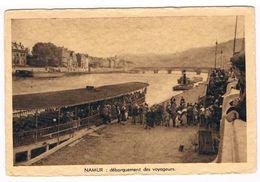 CPA : NAMUR Débarquement Des Voyageurs - Bateau Touriste - Embarcadère Du Grognon - Namur