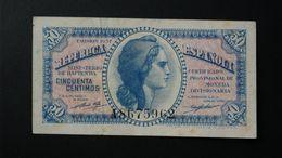 España . Spain . 50 Centimos 1937 . Republica - [ 2] 1931-1936 : Republic