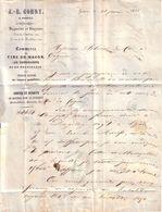 SUISSE - GENEVE - COMMERCE VINS FINS , VENTES ET ACHATS DE MONTRES - J. B. GONDY - LETTRE 1854 - Suisse