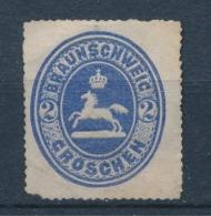 Braunschweig 1865 Mi: 19 (Ongebr Z. Gom/MNG/Neuf Sans Gom/Ungebr Ohne Gummi/(*))(3406) - Brunswick