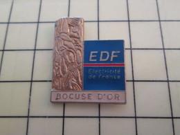 Pin1015c Pin's Pins / Rare Et De Belle Qualité  : EDF GDF / EDF TROPHEE LE BOCUSE D'OR - EDF GDF