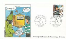 Envellope    1er Jour   Explication Du Theme Derriere L'envellope    Bande Dessiné Enki Bilal - Storia Postale