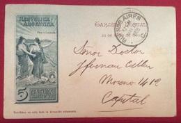 REPUBBLICA ARGENTINA  CARTOLINA POSTALE DEL 1903 CON VULCAN VILLARINO - Argentina