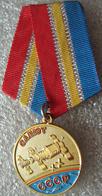 140 Space Russian Pin. Medal Orbital Station Salyut-Soyuz-11. Dobrovolsky G., Volkov V., Patsayev V. Eternal Memory - Space