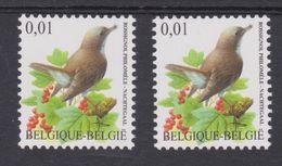 BE 2004 - N°3264+ 3264a XX - Rossignol Philomèle - Les 2 Papiers - 1985-.. Oiseaux (Buzin)