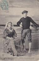 CPA Les Sables-d'Olonne - Sablaise Raccommodant Un Filet - 1905 (33656) - Sables D'Olonne