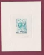 120318 REPUBLIQUE DU MALI épreuve D'artiste Timbre 300F LEONARD DE VINCI Tête De Jeune Femme N° 292 1977 Jacques COMBET - Mali (1959-...)