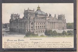 Cachet Et Timbre De  Russie Y.T. N°41 Sur CPA De GRUSS AUS BERLIN Reichstagsgebaude 1902 Pour MONT St MARTIN M.et.M. - Briefe U. Dokumente