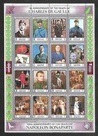 E94  Bloc De Manama En L'honneur De Ch. De Gaulle Et Napoléon Bonaparte - Bahreïn (1965-...)