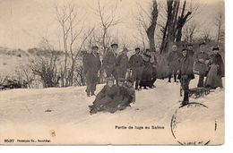 CPA 74 - PARTIE DE LUGE AU SALEVE (CARTE PEU COURANTE) - Sonstige Gemeinden