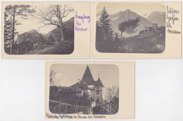 AUSTRIA ITALY 1910 PRIVATE PHOTO PC (3) CASTLES NEAR MERAN - Austria
