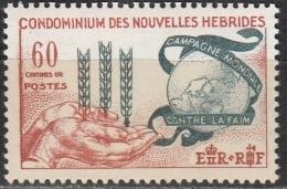 Nouvelles Hebrides 1963 Michel 195 Neuf ** Cote (2005) 13.00 Euro Campagne Mondiale Contre La Faim - Légende Française